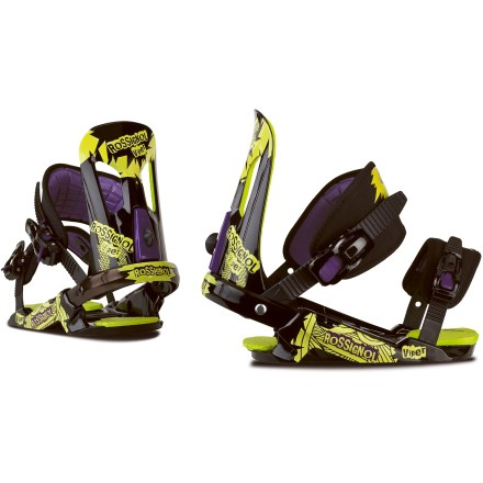 Snowboard Built to adult standards but offered in kid-friendly sizes, the Rossignol Viper snowboard bindings provide big performance at a great price. - $59.83