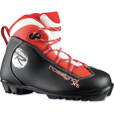 Ski The Rossignol X1 JR cross-country boots offer young recreational skiers support and warmth for fun days on the trails. - $48.93
