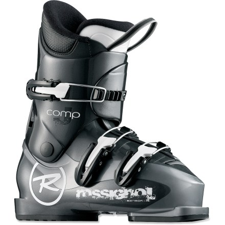Ski Rossignol Comp J3 junior ski boots are a great choice for young skiers developing their skills. They provide a comfortable fit and performance features. - $77.93
