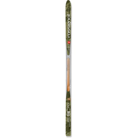 Ski The Rossignol BC 70 Positrack skis offer control and maneuverability and work great when you spend most of your time off trail and only a small bit on trail. - $119.93
