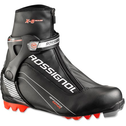 Ski Rossignol X6 Combi cross-country ski boots give ambitious Nordic skiers the ability to classic ski one day and skate ski the next with a single pair of boots. - $69.93