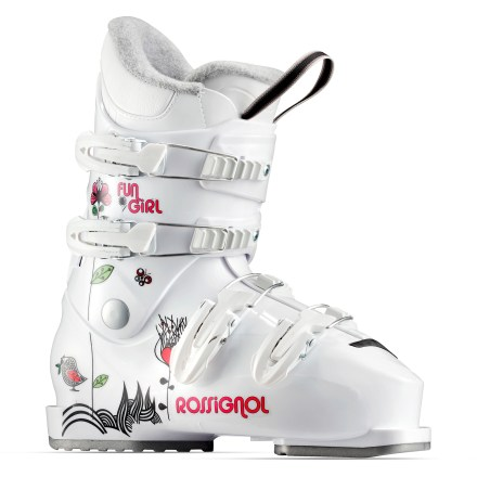 Ski Rossignol Comp J4 ski boots are a great choice for girls developing their skills. They provide a comfortable fit and performance features. - $55.93