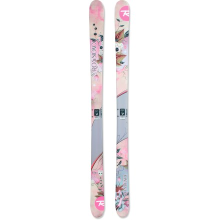 Ski Young freestylers are guaranteed to have a blast making their way down the mountain on the Rossignol Trixie Jib skis. Women-specific construction increases maneuverability and reduces overall weight; they are perfect for younger ladies looking to take a spin in the terrain park. Wood core creates a light and lively ski with excellent ski-to-snow feel and high durability. Fiberglass laminates create a fun, lively feel in the skis and enhances pop. Cap construction strengthens the top and sidewalls of the Rossignol Trixie Jib skis. Rounded tip shape is designed specifically for park and pipe transitions and skiing switch, and a shock-absorbent rubber insert enhances durability and reduces impacts. Base or topsheet color may vary from online photo. Directional twin-tip profile excels when going forward and lets them land jumps and ride backward. - $164.83