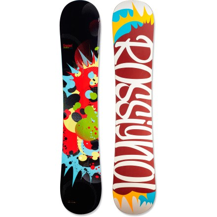 Snowboard Rossignol Justice shreds any terrain with fluidity and ease. It grips hardpack like a prom queen to her crown and leaves the rest of the board free to float, pop, butter or land smoothly on demand. Amplification Technology (AmpTek) blends camber between the feet and early-rise tip and tail to give you mind-blowing performance across the entire mountain. Camber between the feet means faster transitions, more control, better edge pressure and more grip when riding the park and on piste. Reverse camber tip and tail offer smooth landings, enhanced flotation in powder, more pop and better bump absorption. Directional shape concentrates pop in the tail and offers plenty of overall float and control; twin flex makes riding regular or switch simple. Wood core offers an even flex, incredible strength and a light swing weight; layers of carbon and Kevlar(R) fibers add torsional rigidity and reduce chatter. Sandwich construction gives riders solid edge hold and added strength, with quick rider-to-board energy transmission for ultimate response. Sintered 4400 base is fast on the snow; stone ground finishing process accelerates the friction reduction processes of the base to achieve maximum speed. . - $239.83