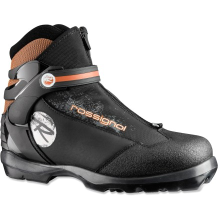 Ski Glide the day away on forest roads and untracked glades with the comfort and firm support of the Rossignol BC X5 cross-country touring boots. - $58.93