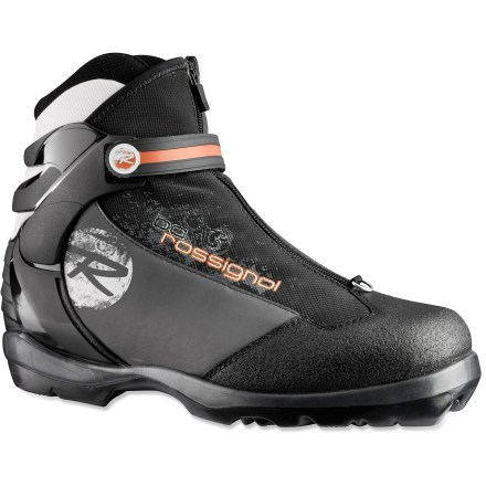 Ski Glide the day away on forest roads and untracked glades with the comfort and firm support of the women's Rossignol BC X5 FW cross-country ski boots. - $69.93