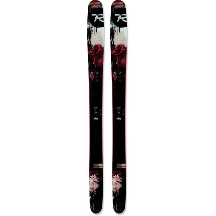 Ski The Rossignol S7 skis demand deep snow. With the right amount of camber to get back to the lifts, the Rossignol S7 skis feature rockered tips and tails, a wide waist and a powder-specific nose that excels off-piste. Wood core creates a light and lively ski with excellent ski-to-snow feel and superb damping characteristics. You'll appreciate a smooth, snappy experience thanks to resilient carbon and Kevlar materials woven into the core. Rossignol S7 skis combine an early rise in the tip and tail with a standard camber underfoot for unsurpassed flotation in deep powder and responsive grip on hardpack. You'll enjoy skiing in powder with greater agility thanks to the spoon-shaped tips that float high in the deep stuff without hooking. Visco elastomer in the tip and tail absorbs shocks and resists excessive flexing. Traditional sidewalls enhance edging. Directional twin-tip profile excels when going forward and lets you land jumps and ride backward. Requires bindings with wide brakes. Base or topsheet color may vary from online photo. - $699.95