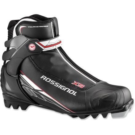 Ski The Rossignol X5 cross-country ski boots combine comfort and support to keep recreational skiers and active enthusiasts cruising along the groomed trails. - $83.93
