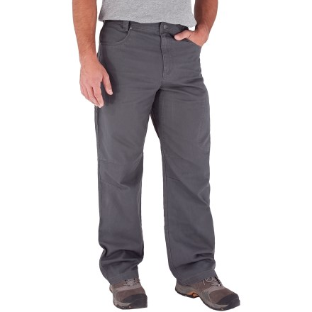 Entertainment Built for casual wear, the Royal Robbins Billy Goat(R) Utility Corduroy pants are tough enough to handle excursions to the campground and short treks into the woods. Rugged cotton corduroy has a soft hand and provides UPF 50+ protection from sun's rays. 2 hand pockets, 2 rear pockets, a zippered thigh pocket and a zippered rear pocket provide storage for your essentials. Triple-needle stitching at high-stress points ensures long-lasting wear. Gusseted crotch and articulated knees allow good range of motion. The Royal Robbins Billy Goat Utility Corduroy pants have a regular fit. - $49.93
