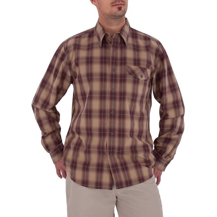 Entertainment The Royal Robbins Andale plaid shirt is a great choice for casual wear. Prewashed cotton fabric has a soft hand. Button-close chest pocket stashes essentials. Shirt is finished nicely with pewter buttons. Contemporary fit. Closeout. - $28.73