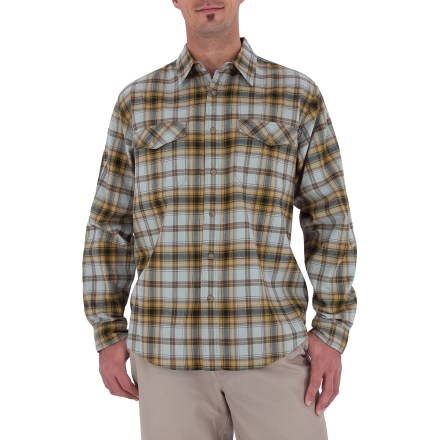 Entertainment The Royal Robbins Black Rock plaid shirt is styled for casual hangouts. Prewashed cotton fabric has a soft hand and features attractive, rich colors. Button-close chest pocket stashes essentials. Closeout. - $9.73