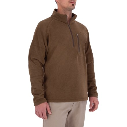 Entertainment The Royal Robbins Arcada Quarter-Zip sweater brings warmth and style to your wardrobe. Non-pilling polyester microfleece has a lightly brushed surface that traps and retains body heat. Zippered chest pocket for stashing small items. Quarter-zip front for easy ventilation. Closeout. - $25.73