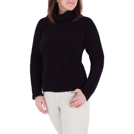 Entertainment The Royal Robbins Chez Nell Soft mock sweater makes an excellent traveling companion, offering a luxuriously soft feel, quick drying performance and easy care. Polyester/nylon blend is smooth to the touch and lightweight, and has plenty of stretch for a comfortable fit. Raglan sleeves offer nonbinding, seamless comfort at the shoulders. Wash by hand or dry clean. Closeout. - $22.73