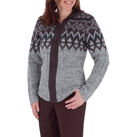 Entertainment The Royal Robbins Sonora Hoodie sweater is just the ticket for snow-filled days, fall evenings or anytime a touch of warmth is needed. Soft acrylic and wool blend yarn is warm and itch free. Full-zip front; hood for extra warmth. Classic fit. Closeout. - $11.73