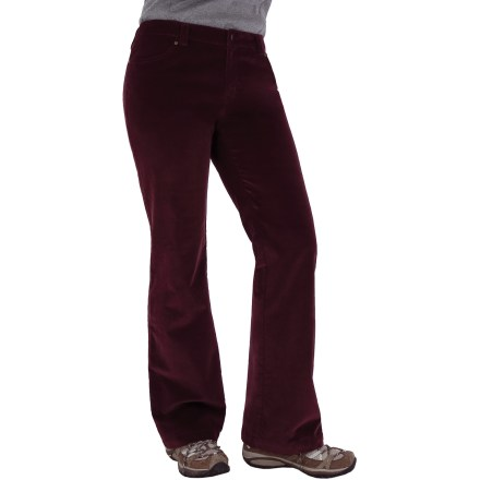 Camp and Hike The Royal Robbins Ultimate Stretch Corduroy pants feature a fine wale cord that looks great. Cotton/spandex blend fabric is soft, smooth and breathable; touch of spandex offers the right amount of stretch. Mid rise for a perfect fit. Rivet-reinforced pockets. Boot cut. Closeout. - $30.83