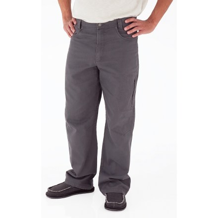 Entertainment Built for everyday wear, the Royal Robbins Billy Goat(R) Utility Corduroy pants are tough enough to handle excursions to the campground and short treks into the woods. Rugged cotton corduroy has a soft hand and provides UPF 50+ protection from sun's rays. 2 hand pockets, 2 rear pockets, a zippered thigh pocket and a zippered rear pocket provide storage for your essentials. Triple-needle stitching at high-stress points ensures long-lasting wear. Gusseted crotch and articulated knees allow good range of motion. The Royal Robbins Billy Goat Utility Corduroy pants have a regular fit. - $24.83