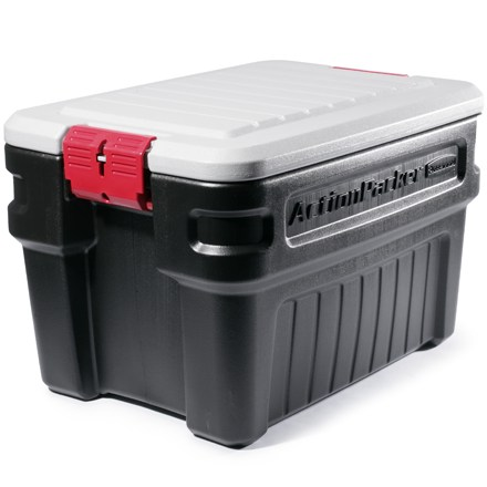 Camp and Hike This twenty-four gallon Rubbermaid(R) storage container is perfect for keeping lots of gear organized around the house and in the car. - $44.95