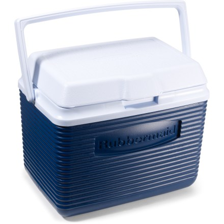 Camp and Hike Pack along cool drinks for you and the rest of the crew. The Rubbermaid Victory cooler holds twelve 12 fl. oz. cans of you favorite thirst quencher! Handle folds down and out of the way for easy stowing. - $18.00