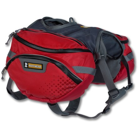 Camp and Hike The Ruffwear Palisades dog pack enables your dog to enjoy multiday backcountry adventures. It features removable saddlebags, collapsible water bottles and a load-compression system. - $149.95