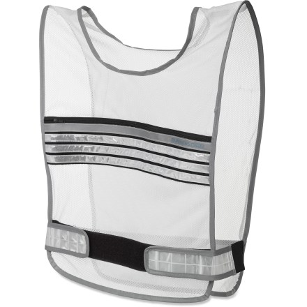 Fitness The Runner's World Reflective Run vest offers 360deg of high-visibility reflectivity to help you be seen in all light conditions. Lightweight, breathable polyester mesh vest features reflective printing, banding and binding for substantial reflectivity. Integrated zippered chest pocket provides storage for essentials. Adjustable side straps secure the vest to most body sizes. Wipe the Runner's World Reflective Run vest clean. - $9.93