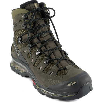 Camp and Hike Bringing trail-running shoe technology to a full-on backpacking boot makes the waterproof, breathable Salomon Quest 4D GTX hiking boots nimble, supportive and lightweight. - $56.83