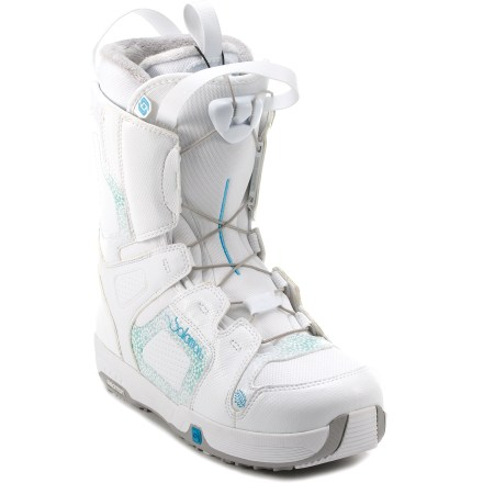 Snowboard Salomon Pearl snowboard boots won't bite your budget--or your ankles. Their mellow flex makes them suitable for all types of riding. - $71.83