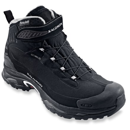 Camp and Hike Go fast and light in the snow with the Salomon Deemax 2 Dry winter boots featuring soft shell uppers, waterproof protection and cozy insulation with a 20degF comfort rating. - $79.83