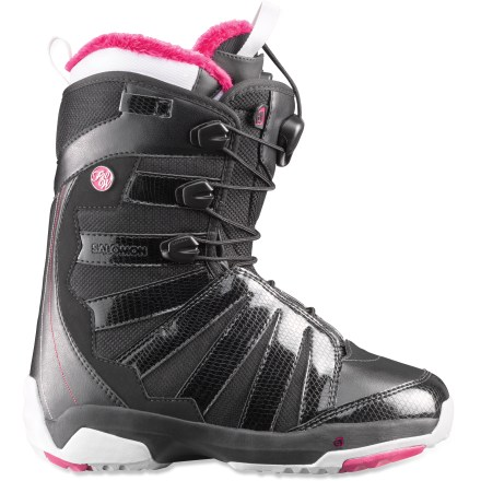 Snowboard The Salomon F20 snowboard boots are built to last. They feature a comfortable and connected low-profile fit and a mellow medium flex. - $124.83
