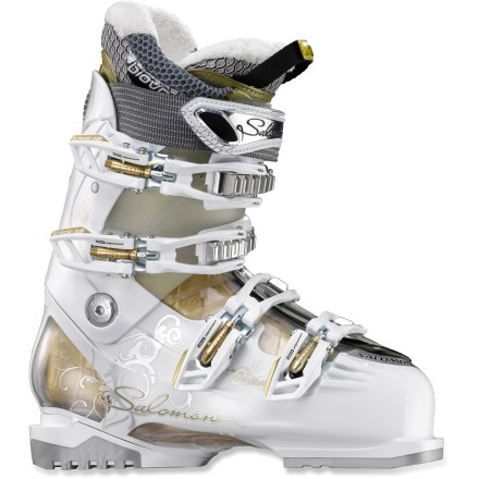Ski Set your sights on a challenging slope and let the women's Salomon Divine RS 7 ski boots help you master the skills to ski the mountain like a pro. - $139.83