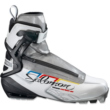 Ski The race-ready Salomon Vitane Carbon skate boots offer high-performance features and a women-specific fit so you can enjoy day-after-day of fast-paced skiing. - $99.93