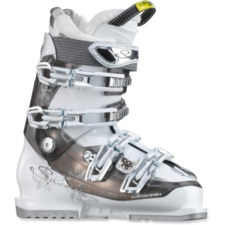 Ski Featuring a superb fit and feminine flare, Salomon Idol 75 ski boots help you tear up slopes all over the mountain-and do it with a touch of easy-going style. - $139.93
