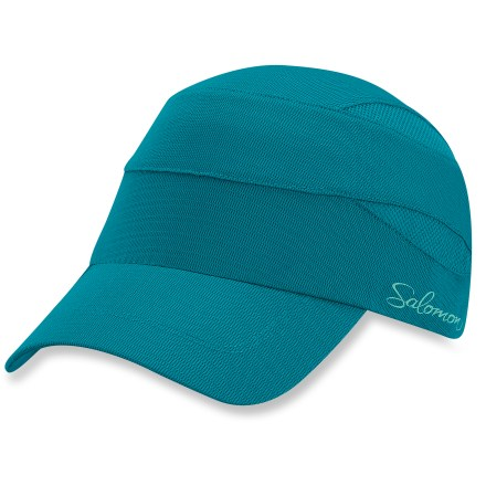 Camp and Hike The Salomon XR hat has attractive feminine style and airy design to keep you looking good and feeling great on the go. Polyester shell wicks moisture off your head and dries quickly to keep you comfortable while running and hiking. Rip-and-stick closure in back lets you fine-tune the fit. - $8.83