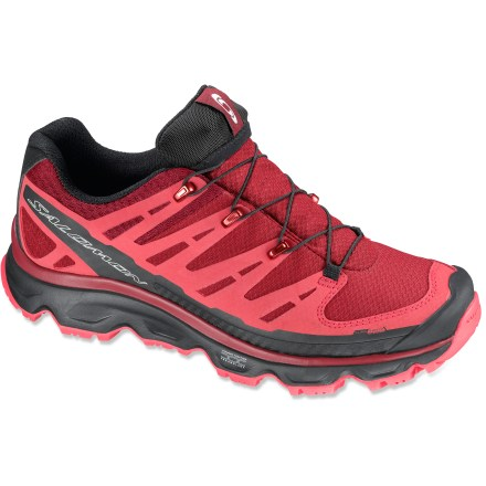 Camp and Hike The Salomon Synapse CS WP hiking shoes provide waterproof protection in a lightweight, agile and resilient design for all-weather, fast-paced hiking. - $70.83