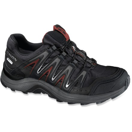 Fitness The waterproof Salomon XA Comp 7 CS WP trail-running shoes blend stability, protection and durability in a flexible trail-hungry platform that handles fast hiking as well as running. - $130.00