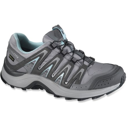 Fitness The Salomon XA Comp 7 CS WP women's trail-running shoes are built for nimble pursuits across varying terrain, providing waterproof protection and a supportive fit to ensure comfort along the way. - $64.83