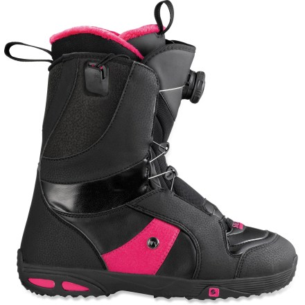 Snowboard The Salomon Ivy Boa STR8JKT snowboard boots go on easy, and feature the Boa(R)/STR8JKT lacing system for a comfortable and secure fit. - $119.83