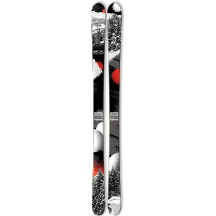 Ski Hard-charging, big-mountain skiers will dominate the slopes with the fun and lively Salomon Rocker2 90 skis. The Salomon Rocker2 90 skis work well if you're sticking to the groomed runs, but they are ideal if you find yourself switching between groomed runs and off-piste terrain. Full wood core delivers direct transmission of power with precision and efficiency; designed for demanding skiers who require high performance. Elastomer inserts placed over the edges absorb vibrations, resulting in a smooth ride that softens ski-to-snow contact. All-terrain rockered tips excel in soft snow and deliver fluid performance on hardpack; when put on edge, 95% of edge length contacts snow to offer precision on groomed runs. Fiber reinforcement laid directly on the edges adds torsional rigidity and improves edge durability, and wide metal edges withstand big impacts and improve shock resistance. Requires binding with wide brakes. Base or topsheet color may vary from online photo. - $299.83