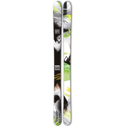 Ski The Salomon Shogun 100 are built to handle the unexplored powder that's waiting off the lift as well as the groomed runs used to get you there. Built for days that take you all over the mountain, the Salomon Shogun 100 skis excel on variable terrain, and they'll hold their own on powder days. Full-wood core delivers direct transmission of power with precision and efficiency; designed for demanding skiers who require high performance. Bamboo fibers in the topsheet add natural flex and pop; crushed basalt is added to a fiberglass-like fiber that is placed above the wood core to absorb shock. Perfect for pulling off freeski maneuvers, a single-layer cap design provides precise edge grip and efficient energy transfer from skier to snow. Elastomer inserts placed over the edges absorb vibrations, resulting in a smooth ride that softens ski-to-snow contact. All-terrain rockered tips excel in soft snow and deliver fluid performance on hardpack; when put on edge, 95% of edge length contacts snow to offer precision on groomed runs. Slightly raised tails let you ride backward and stick the occasional switch landing. Strong polyethylene fiber threaded between the edges of the skis increases edge strength to withstand big impacts. In addition to the polyethylene fiber, extra fiber reinforcements laid directly on the edges add torsional rigidity and improves edge durability. Wide metal edges withstand big impacts and improve shock resistance. Salomon Shogun 100 skis require wide brakes. Base or topsheet color may vary from online photo. - $359.83