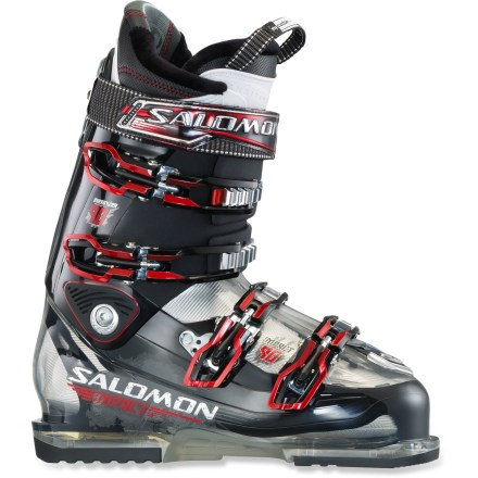 Ski As you explore the mountain and enjoy the experience, the Salomon Impact 90 ski boots balance comfort with high-speed performance. - $139.93