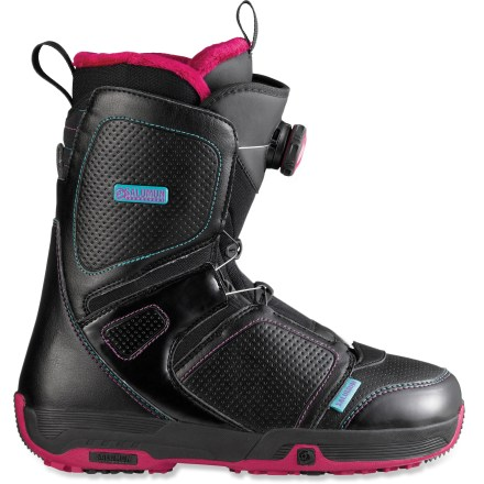 Snowboard The Salomon Pearl Boa snowboard boots go on easy and offer a fast, secure and easy-to-use Boa(R) lacing sytem for a perfect fit. - $94.83