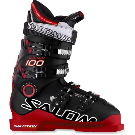 Ski Salomon X Max 100 ski boots offer a personalized shell fit, high-speed performance and ample comfort as you blaze through expert-level terrain. - $399.93