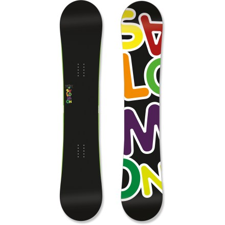 Snowboard The Salomon Drift Rocker snowboard is a park prodigy. It effortlessly conquers kickers, the halfpipe and rails thanks to its skatelike ride. Rocker design energizes edge control under your feet while disengaging tip and tail contact points for a catch-free yet stable feel. Twin shape centers your stance for easy switch riding. Full-length, lightweight aspen wood Popster core features FSC-certified wood strips to provide extra-tough insert retention, impact resistance and a predictable flex. Core shape mimics a skateboard's profile for great control in the park. Medium-density fiberglass layers provide a consistent quality level and give the board pop. Royal Rubber Pads insert into high pressure zones of ABS sidewalls to damp vibration and mellow big impacts. Easy-to-maintain extruded base combines speed and durability to keep you moving fast in all types of conditions; standard stone-ground finish. . - $209.83