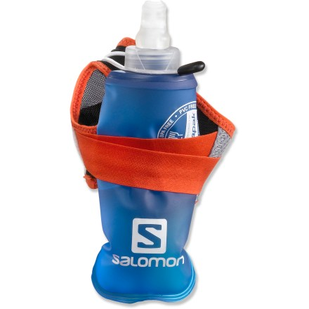 Camp and Hike Holding a water bottle while you run is no fun. That's why Salomon created the Sense Hydro S-Lab handheld hydration set that keeps your hands relaxed while you're logging the miles. - $19.93