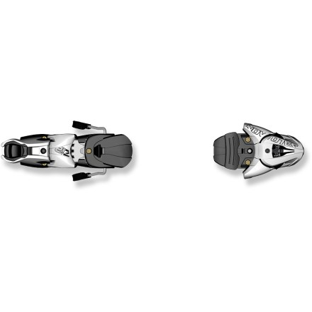 Ski Salomon Z12 B100 downhill ski bindings offer advanced skiers a performance connection to their skis. - $94.93