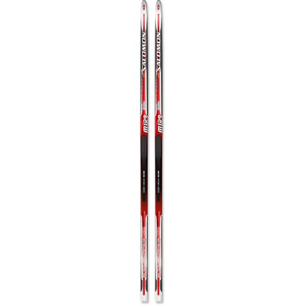 Ski Spend a sunny winter day gliding along the groomed tracks with the stable and maneuverable Salomon Snowscape 9 cross-country skis. Shorter-than-traditional ski length enhances maneuverability and control; ski camber is optimized to work with the short length for excellent grip and glide. Densolite 3000 cores feature preshaped Densolite foam wrapped with fiberglass and carbon to keep the skis light, responsive and consistent. Camber is tuned to provide easy contact of the grip zone with the snow during the kick phase. Light carving sidecut puts the narrowest point near the binding area for control while gliding and sliding. G2 Synchro grip zones on the bases provide smooth transitions between kicking and gliding for great performance without having to wax. Salomon Snowscape 9 cross-country skis have sintered bases that provide good glide in all conditions and require little maintenance. - $124.93