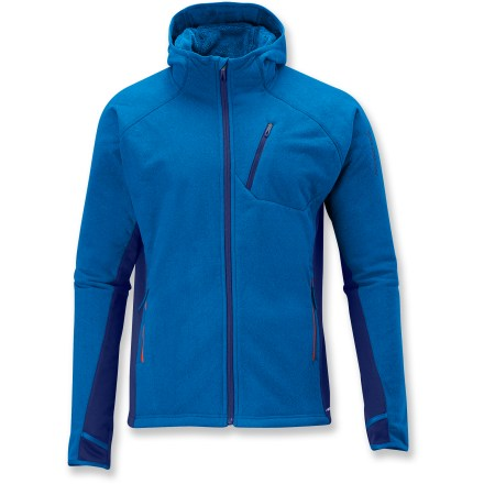 Camp and Hike The Salomon High Pile Hoodie fleece jacket is an everyday mid layer that offers amazing warmth and comfort. actiTHERM(TM) fleece fabric offers exceptional warmth, and is quick drying. Raglan sleeves eliminate shoulder seams, enhancing range of motion and comfort under pack straps. Hood goes on easy to keep the cold out. Salomon High Pile Hoodie Fleece jacket features a zippered chest pocket and zippered handwarmer pockets. Thumbholes keep sleeves in place and hands warm. - $64.83