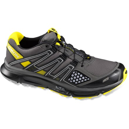 Fitness Built for training runs on trails or the occasional pavement, the Salomon XR Mission CS trail-running shoes feature ClimaShield(TM) forefoot membranes for breathable weather protection. - $64.83
