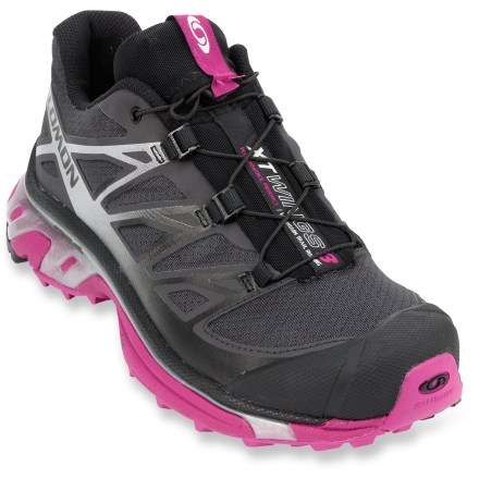 Fitness Ready for mountains and rugged trails, the Salomon XT Wings 3 women's trail-running shoes offer a comfortable, agile ride with excellent traction for sure footing through the miles. - $68.83