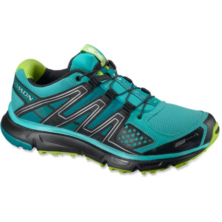Fitness Built for training runs on trails or the occasional pavement, the women's Salomon XR Mission CS trail-running shoes feature ClimaShield(TM) forefoot membranes for breathable weather protection. - $64.83