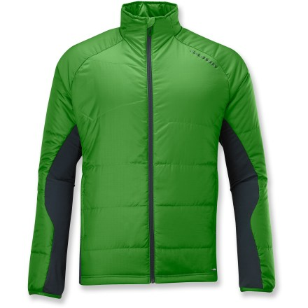Entertainment The Salomon Montroc Midlayer jacket is the perfect insulative layer underneath a shell when conditions become extreme, or wear it as a warm wind-blocking layer on its own in dry conditions. Windproof, insulated front and back protects; breathable, stretch side and lower back panels provide comfort and temperature versatility. Low-bulk and lightweight Actiloft(R) synthetic insulation warms even when wet and adds warmth. Slim internal wind flap backs front zipper; chin guard protects delicate skin. Trim, elastic cuff binding. Salomon Montroc jacket has 2 zip hand pockets and an internal security pocket. - $69.83